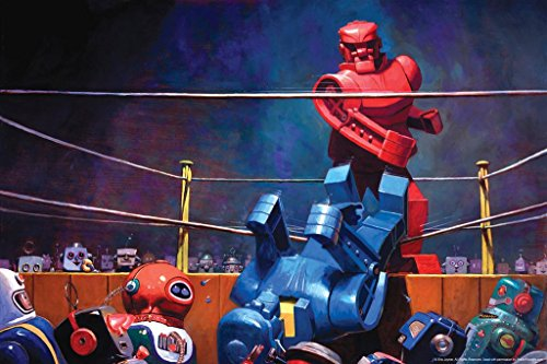 Robots Final Blow by Eric Joyner Famous TV Show Cool Wall Decor Art Print Poster 36x24