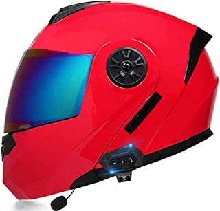 Motocross Bluetooth Helmet Double Visor Modular Front Flip Up Motorcycle MTB Helmet Anti-Fog Adult Men and Women ECE/DOT A...
