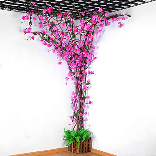 WJQQ Silk Artificial Magnolia Flowers Tree, Simulation Hanging Vine Flower Decoration with Beautiful Realistic Stem, Decor for Home Office Vase Kitchen Farmhouse
