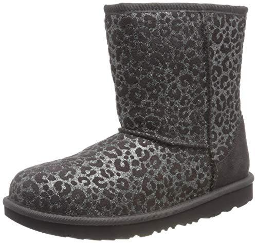 UGG Kinder Classic II Glitter Leopard Klassische Stiefel, Einbruch Der Dunkelheit, 32.5 EU