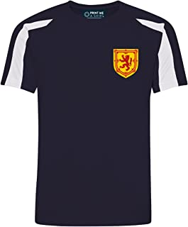 Personalised Scotland Style Home Kit Navy Blue Football Shirt for Boys and Girls Best Birthday Gift for Children and Unise...