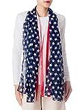 iB-iP Mujer Bandera Americana Grande Ligera Largo Pa?uelo Fular Bufanda De Moda, Tamaño: Talla única, Marina de guerra