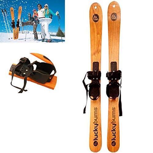 GXYWPF Massivholz Schnee Ski, Professional Snowboard Deck Ski Schlitten Erwachsene Kinder Snowboard, Ski Alpin, Langlaufen, Outdoor Sportarten,Skis,1.1m