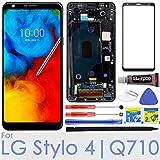 LCD Display Screen Replacement Touch digitizer for LG Stylo 4 / Q Stylus Q710 Q710MS Q710CS Q710AL Q710TS Q710US Q710ULS Q710ULM L713DL LMQ710FM 6.2'(Black w/Frame)