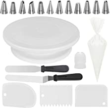 Kootek All-In-One Cake Decorating Kit Supplies with Revolving Cake Turntable, 50 Disposable Pastry Bags, 12 Cake Decoratin...