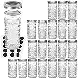 Mason Jars 12 OZ, VERONES Canning Jars Jelly Jars With Regular Lids, Ideal for Jam, Honey, Wedding...