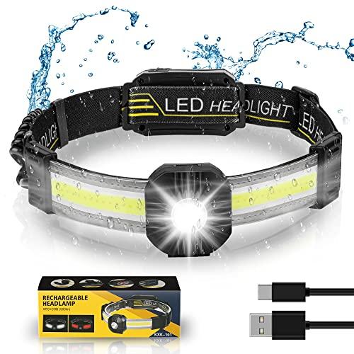 Stirnlampe LED - Wiederaufladbar USB...