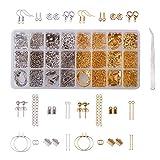 PandaHall Elite - Schmuck Creation Kit Zubehör Ohrring Komponente Ohrring Haken Verschluss Lobster Claw Pearl Schüssel Jump Ring Ribbon Tip Pins