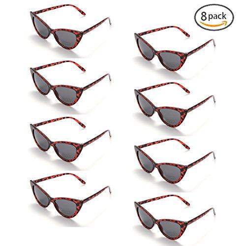 Onnea fashion 8 Pack 80s Vintage Retro Party Favors Cat Eye Wholesale Sunglasses