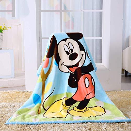 Manta De Franela De 140X110Cm Mickey Minnie Mouse, Manta De Osos Pooh, Manta para Niños Y Niñas, Manta De Nube para Bebés Recién Nacidos, Manta Gruesa