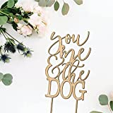 You Me and the Dog(s) Wedding Cake Topper, Event Decor, Rustic Cake Topper, Unique Wood Cake Toppers-made in American factories