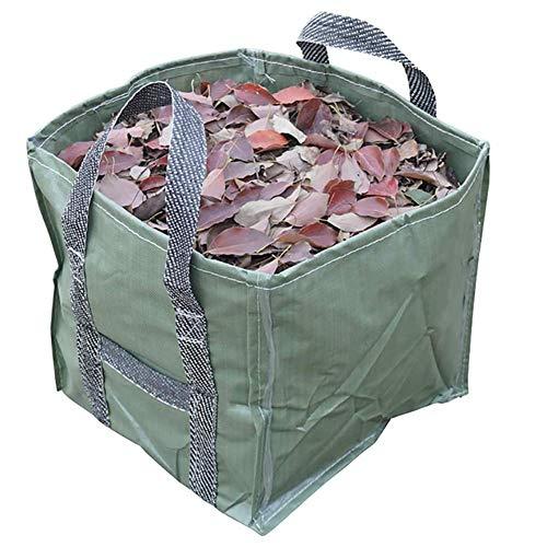 ZXD Gallons Garten Tasche mit doppeltem Boden Schicht Extra Large Wiederverwendbare Heavy Duty Gartentaschen, Rasen Pool Garten Blatt Abfallbeutel,Grün
