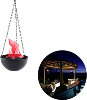 Unetox Fake Flame Lamp LED Flame Light Electronic Hanging Brazier Lamp for Halloween Xmas Party Decor 20 cm