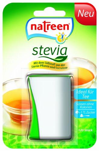 natreen® Süßstoff Stevia Tischspender 120er,1er Pack (1 x 120 Stück)