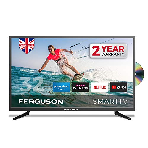 Ferguson F3220RTSF 32 inch Smart LED TV/DVD Download Apps Netflix, Black