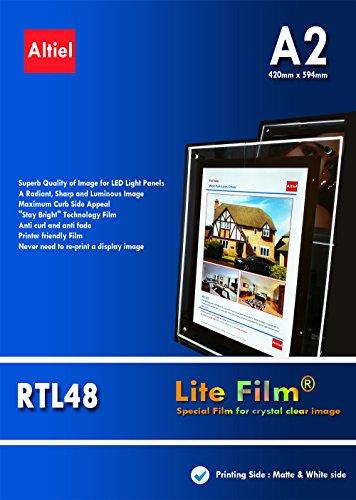 RTL48 - A2 x 10 vellen voor Inkjet Printers - Dikke Back lit Paper/Lite Film ® voor LED Light Pocket/LED Light Panel/LED Lightbox - Volgende dag levering is beschikbaar