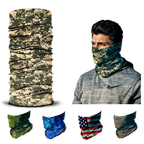 ARMORAY Face Mask Balaclava Neck Gaiter Reusable Washable Bandana Headwear Headband for Men & Women Hiking Cycling Fishing Masks (MUD CAMO)
