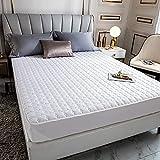 HPPSLT Protector de colchón - óptimo antiácarosSábana de Cama Pure Color Single Piece Pure Cotton-White_90 * 200cm
