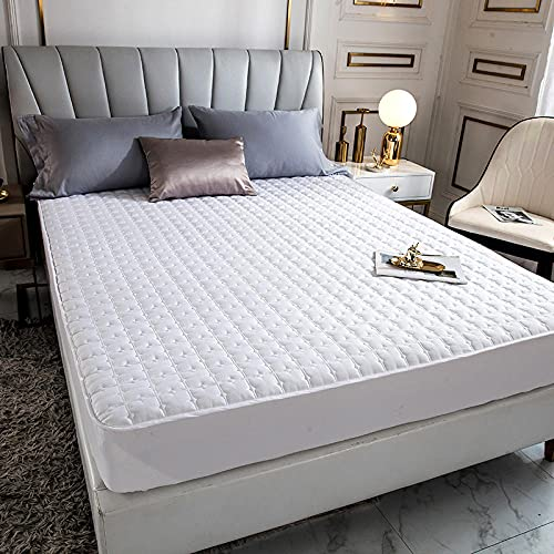 HPPSLT Protector de colchón - óptimo antiácarosSábana de Cama Pure Color Single Piece Pure Cotton-White_100 * 200cm