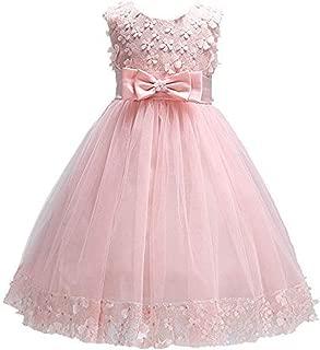 Forpend 子供ドレス F011 リボン付き フラワー ピアノやバイオリンの発表会 結婚式に ガールズフォーマル 110 120 130 140