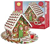Gingerbread House Kit - Mega Traditional Gingerbread House, Pre-assembled - Includes 4 types of...