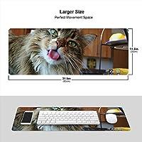 猫 飲料 水 蛇口 マウスパッド キーボードパッド 滑らかマウスパッド ゲーミングパッド 大型 オフィス 家庭用