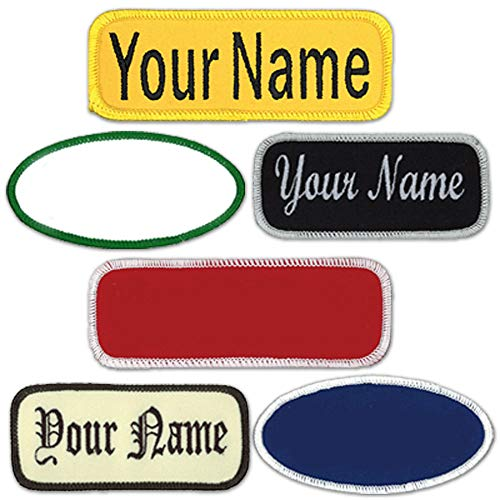 Name Patches Uniform or Work Shirt, Personalized, Embroidered New...