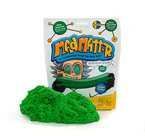 MAD MATTR Jewel Tones by Relevant Play - Soft Modelling Dough Compound That Never Dries out, 10 Ounces (Green Dream, 10oz)