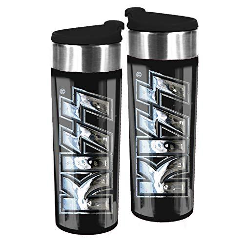 United Labels KISS – Borraccia da 400 ml, in acciaio inox, tazza termica