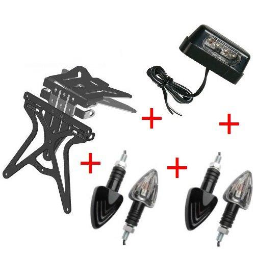 Compatibel met KTM EXC 520 kit voor motorfiets universeel universeel geen speelgoed + 2 koplampen zwart + LUCE TARGA-lamp