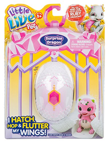 Little Live Pets S1 Dragon Single Pack Childrens Toy, Purple/Pink