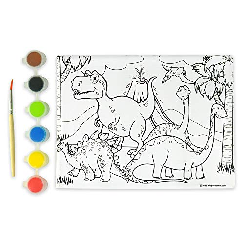 Kipp Brothers 4-Pack DIY Paint & Canvas Set - Dinosaur