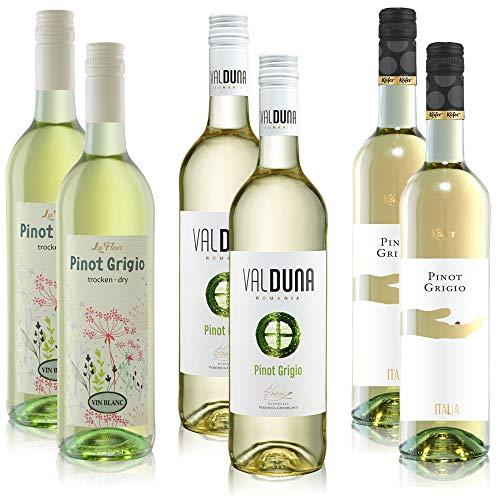6,66€/l Weißwein Pinot Grigio Weißwein aus Ungarn Paket Pilar, Val Duna, Feinkost Käfer