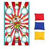 VIVILIAN Halloween Bean Bag Toss Game Banner Halloween Toy Outdoor Throwing Games for Adults Kids Party Funny Prop Decorations Supplies Accessories