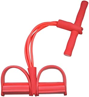 LCK Multi Function Tension Rope Strong Fitness Resistance Bands Pedal Women Men Pull Ropes Yoga Fitness Equipment,Red