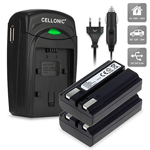 CELLONIC 2X Batería Compatible con Nikon Coolpix 4300 Coolpix 4500 Coolpix 4800 Coolpix 5000 Coolpix 5400 Compatible con Konica Minolta DiMAGE A200, EN-EL1 NP-800 Cargador MH-53 BC-900 Pila Repuesto