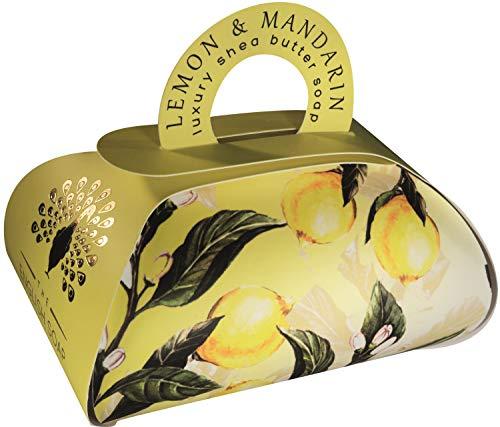 The English Soap Company, Large Gift Bag Bath Soap, Lemon & Mandarin, 260g