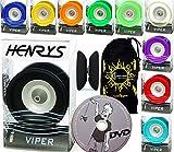 Henrys Viper YoYo Professionnel (10 Couleurs) + Apprendre Yo Yo DVD + Ficelle & Sac! Meilleures Yo-Yos Pro en Europe, idéal pour Les Enfants et Adultes! (Noir)