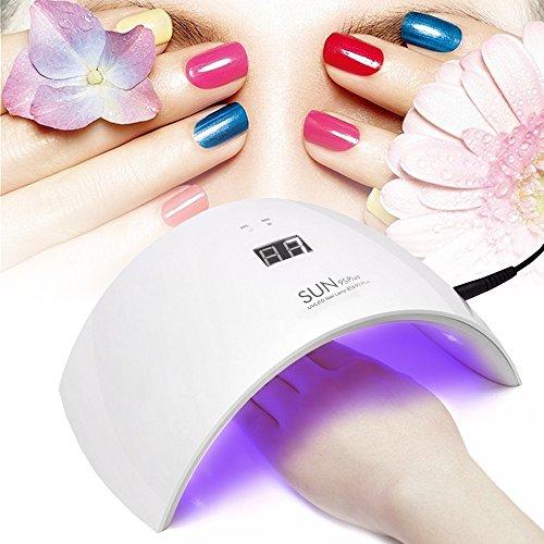 Lámpara de Uñas UV/LED 36W 18 Bombillas con Temporizador de 99sg para Secado de Esmaltes y Gel -Duomishu