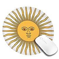 マウスパッド デスクマット PCマット ゲーミングマウスパッド Argentinaアルゼンチンのロゴ 滑り止め 防水 耐久性 疲労軽減 光学式/レーザー式に対応 個性 丸いマウスパッド