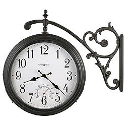 Luis Indoor / Outdoor Quartz Wall Clock in Antique Iron<br> Howard Miller 625358