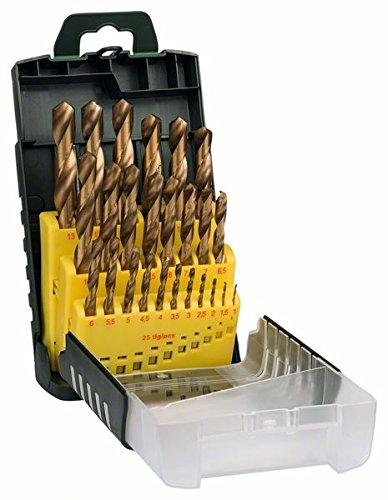 Bosch 2607017154 Set de 25 forets à métaux HSS-Titane 1 à 13 mm