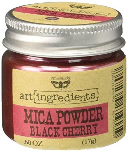 Prima Marketing finnabair Art Zutaten Mica Puder 0,6oz-Black Cherry