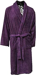Lloyd Attree & Smith - Luxury Terry Towelling Dressing Gown - Plum