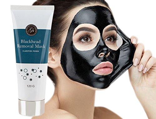 Mascarilla Exfoliante y Limpiadora de Carbón para Puntos Negros Facial Barro Elimina Acné Espinillas Limpieza Profunda