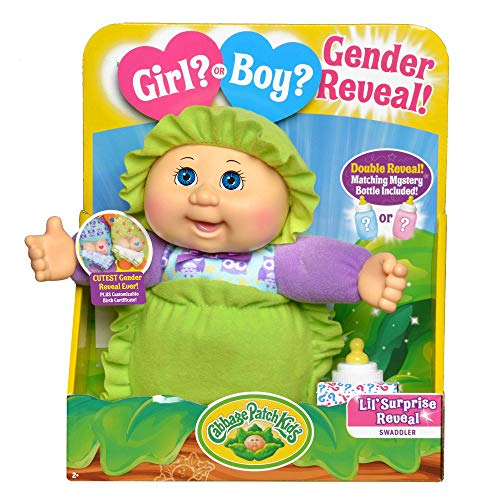 "Cabbage Patch Kids New Surprise Gender Reveal 9"" Deluxe Newborn Baby (Blue Eyes, Girl)"