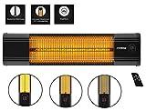 Phönix PCH-2000W Infrarot Carbon Heizstrahler Wandheizung mit Fernbedienung Heizstrahler Terassenheizung | Indoor & Outdoor | 2000 Watt | Abdeckhaube & Thermostat & Timer & 3 Stufen