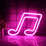 Musical Note Neon Signs Music Note Shaped LED Light Sign for Room Decor Pink Neon Lights Creative Lighting Lamp Home Decoration Gift for Kids(Pink)