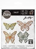 Sizzix Set de Troqueles Thinlits 4 pzas 664409 Mariposas Dibujadas by Tim Holtz, Multicolor, Talla única