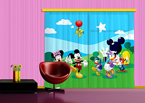 AG Design XXL FCC/4008 Rideau Voilage pour Chambre d'enfant Disney Mickey Mouse